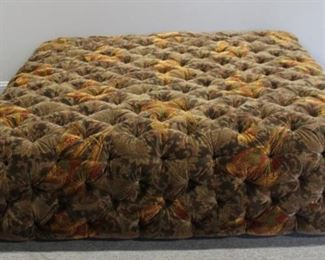 Fine Quality Oversized Tufted Upholstered Ottoman
