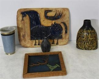 Group of MidCentury Modern Pottery pcs More