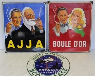 Grouping Of Assorted Enamel Advertising Signs