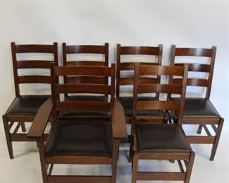 GUSTAV STICKLEY Mission Oak Chairs