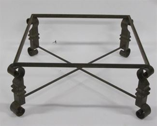 Iron Coffee Table In The Manner Of Poilart