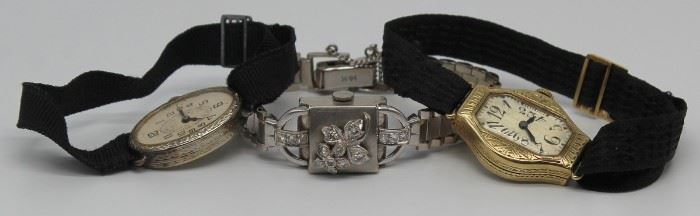 JEWELRY Art Deco and Vintage Ladies Watch Group