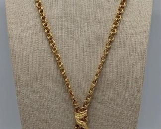 JEWELRY Italian kt Gold Lavalier Style Necklace