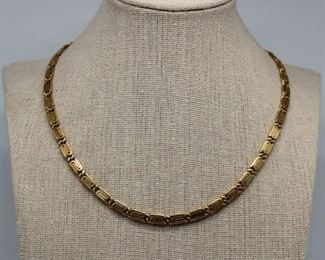 JEWELRY Italian kt Gold Snail Link Necklace