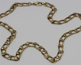 JEWELRY Mens Italian kt Gold Chain Necklace