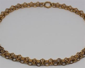 JEWELRY Victorian kt Gold Chain Necklace