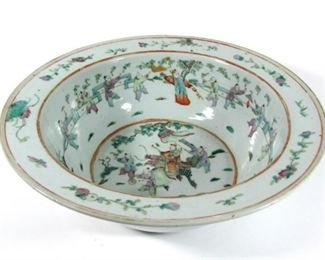 Large th Century Famille Rose Bowl