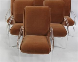 LEON FROST Signed Lucite Chairs
