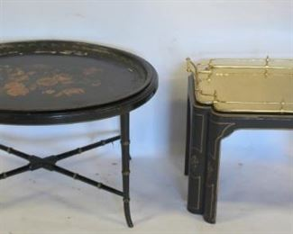 Lot Of Antique Tray Top Tables