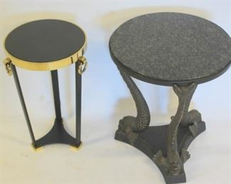 Lot Of Vintage Metal and Marble Tables