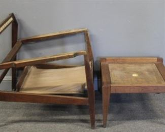 MIDCENTURY Jens Risom Lounge Chair And Ottoman