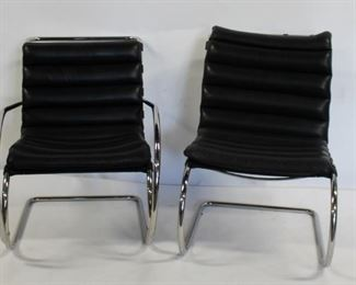 MIDCENTURY Mies Van De Rohe Leather Upholstered