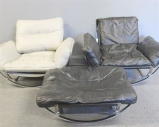 MIDCENTURY Pair Of Chrome Chairs An