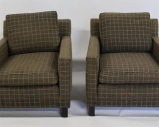 MIDCENTURY Pair Of Dunbar Signed Upholstered