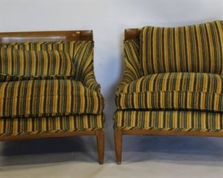 MIDCENTURY Pair Of Gibbings Style Upholstered