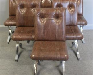 MIDCENTURY Set Of X Frame Chrome Chairs