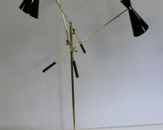 Midcentury Style Brass Trianali Standing Lamp