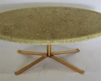 MIDCENTURY Style Oval Resin Top Coffee Table