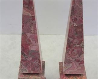 Pair Of Decorative Marble Obelisks