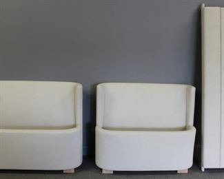 Pair Of Upholstered Single Beds