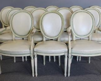 Quality Louis XV Style Painted And Upholstered
