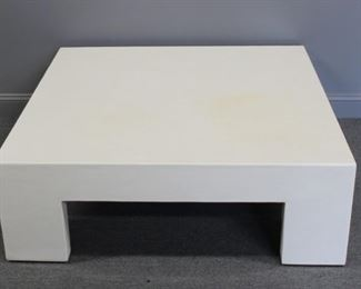 ROBERT KUO White Lacquered Sectional Table