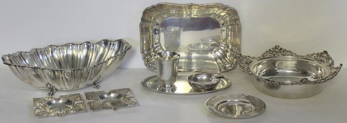 SILVER Assorted Grouping of Silver Hollow Ware