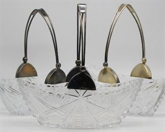 SILVER Matched Russian Silver Mounted Baskets