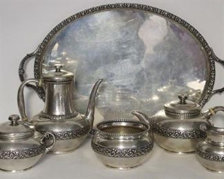 STERLING Pc Tiffany Co Tea Service with Tray