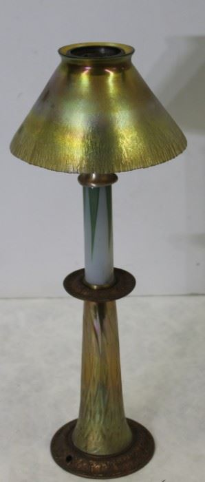 TIFFANY STUDIOS Favrille Glass Candle Lamp