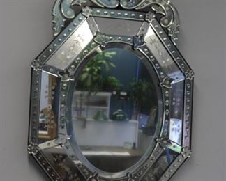 Vintage And Quality Venetian Glass Mirror