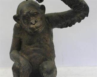 Vintage And Well Executed Bronze Monkey