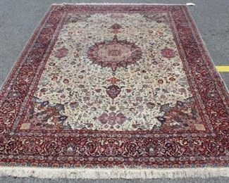 Vintage Signed and Finely Hand Woven Carpet