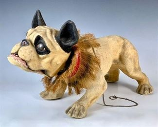 Pull Toy, Growler Dog, Composition C. 1890's