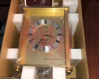 Brass seiko clock