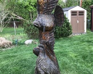 Large Wood Carving/Sculpture