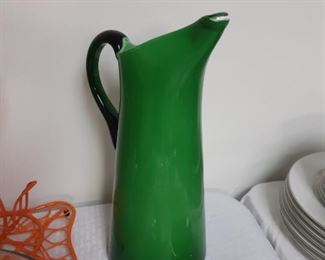 Vintage Glass Pitcher - Blenko?
