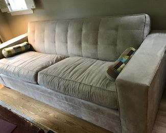 """Mitchell Gold - Gabriel Suede Taupe Sofa 88"""""""