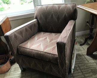 2 Mitchell Gold Elliott Arm Chairs - Vortex Latte Upholstery