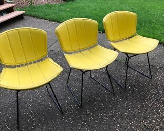 3 Knoll - Bertoia Side Chairs with Covers