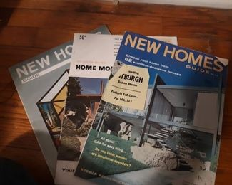New homes magazines from the 50s