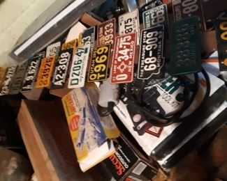 Vintage bike plates and so toys