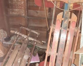 Antique sleds