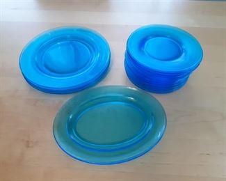 Capri Blue vintage dishware