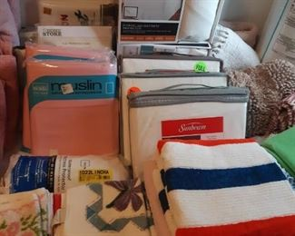 New Old Stock bed linens, bath Linens