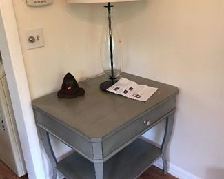 side table with drawer & table lamp