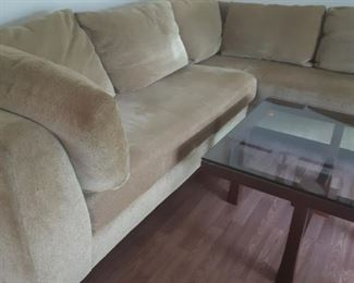 Sofa with Chaise, coffee table