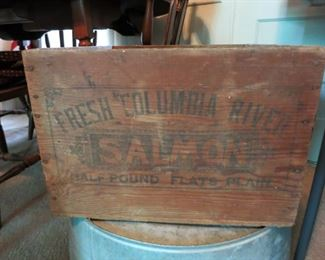 Vintage Salmon wooden box