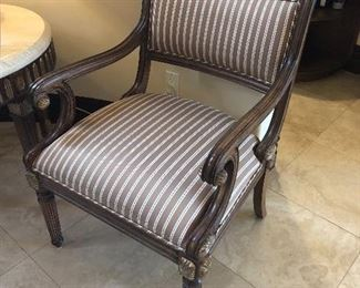 Pair of side chairs also a matching side table Kreiss