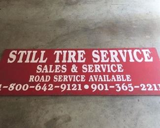 Metal sign Tire Service